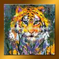 ขายส่งเสือที่ทำด้วยมือเป็นนามธรรมภาพวาดสีน้ำมันสำหรับการตกแต่ง