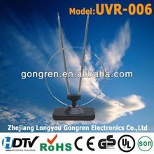 big alum circle indoor antena model UVR-006 digital car antenna