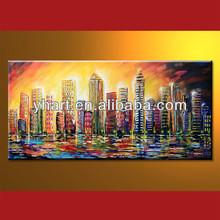 Popular Modern Handmade Modern Paintings With Building