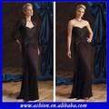 Me-149 lace jacket mãe do vestido da noiva mãe da noiva vestidos de renda marrom longo mãe dos vestidos de noiva