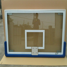 Sport equipment clear tempered glass backboard for school