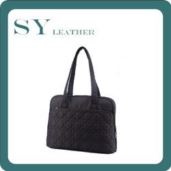 Hot Sale Diamond Lattice Decoration Fashion Nylon Women Should Bag/Hand Bag 14 Inch Notebook Sleeve
