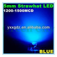 F5 round blue led