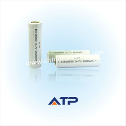ICR18650 rechargeable li-ion battery 3.7v 2600mah pen gun prices