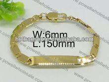 Popular single colored bracelet end caps