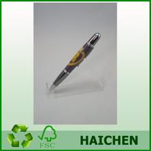 Purple Heart laser-inlay pen with Gunmetal