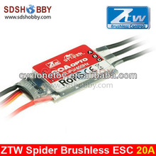 ZTW Spider-Series 20A OPTO Brushless ESC 3S-6S for Multi-Rotor Helicopter
