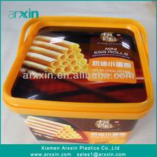super quality pp plastic box for cookies,chocolate,cake,mooncake,icecream,pizza
