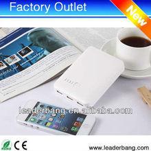 3 USB output 10400mah portable power bank popular in USA
