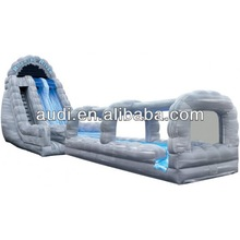 Roaring River Rock Arches 2 Lane Run N Slide Combo inflatable water slide/inflatable slide