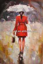 Wholesale stocks lady painting in red