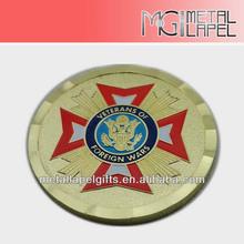 2014 Newest Veterans of Foreign Wars Foundine design coins, metal cross souvenir coins,gold challenge coin