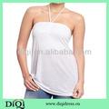 las mujeres al por mayor camisetas de tirantes con trenza halter en el patrón normal
