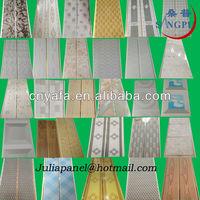 Nigeria Ghana Kenya PVC T and G Plastic Ceiling Panels 2014 New Designs