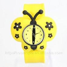 2014 promotion gift new kids butterfly slap watch