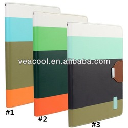 Color Stand Wallet PU Leather Case for iPad Air Case iPad 5 Leather Case