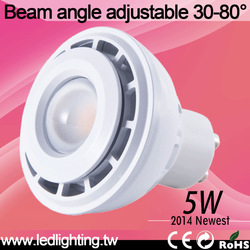 hot selling dimmable gu10 led spotlight cob 5w living room celling epistar recessed light