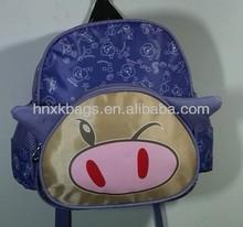 lovely pig shape school bag for kids