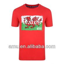 Popular Red cotton tshirt 2014 World cup mens fashion t shirt