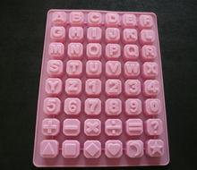 as letras e números do molde