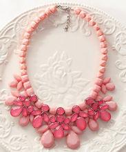 big gem resin chocker decoration necklace female short design fashion statement necklace