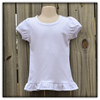 Casual wear toddler girl tops boutiques puffy sleeve stylish girls top wear 100% cotton T-shirt wholesale ruffle top