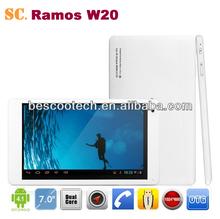 2G GSM phone call tablet pc 7inch Ramos W20 android4.2 AML8726-MXS Dual core ARM Cortex-A9 1GB RAM 8GB ROM Bluetooth GPS HDMI
