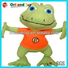 2014 hot sale ICTI audited plush toy frog manufacturer