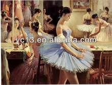 2014 high quanlity favourable price hot sell beautiful girl's Swan Song oil painting on canvas