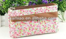 wholesale floral simple cotton fabric fancy coin purse for women