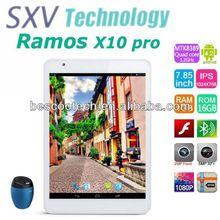 7.85'' Ramos X10 Pro 3G MTK8389 Quad Core 1.2GHz Android 4.2 RAM 1GB ROM 16GB 2.0MP/5.0MP Bluetooth GPS 3G 1024X768 Pixels