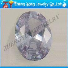 Round cubic zirconia brilliant cut gemstones