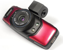 G5000 Red, 1.5 inch LCD Full HD 1080P Dual Camera Car DVR with Night Vision / Motion Detection / HDMI/ Micro SD/TF Card / AV Out