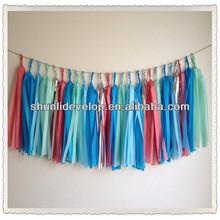 Tissue tassel garland for Monsoon - Party - Wedding - Baby Shower