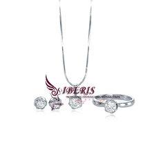 simple diamond jewelry womens bridal jewelry set(S1-A0066)