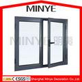 Moldura de alumínio de dupla janela casement/design personalizado de caixilhos de alumínio janela de vidro desenho/openable janela de alumínio