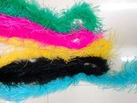 Party decoration Colorful Ostrich feathers marabou boas wholesale