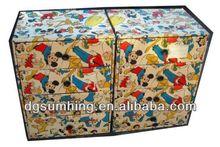 Customized Cardboard Storage Drawers Dresser Set Pair