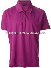 On sale high quality organic cotton fabric man polo t-shirt