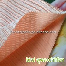 NEW!! Breathable mesh bonded bird eyes fabric for wedding dress