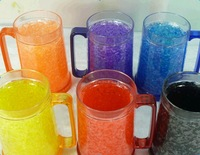 China Shenzhen Bottle Manufacture Bpa Free Hot selling mug With Hanlde Transparent16 Oz Double Wall Acrylic Freezer Mug With Gel