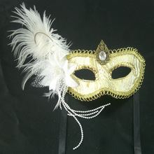 Wholesale Handmade party mask feather flower party mask