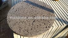 Black steak grill lava cooking stone