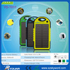 solar laptop charger,Waterproof 5000mAh Solar Charger,Emergency LED lights Solar Charger