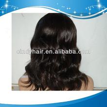 Cheap beauty high quality virgin remy brazilian hair human hair front lace wig glue