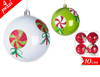 2014 Promotional Pear Finish Plastic Christmas Ball