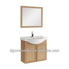 Attaccatura di parete mobiletto del bagno moderno/impiallacciatura di legno della stanza da bagno/mobili della stanza da bagno