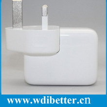 2-Port Portable Travel USB AC Power Adapter Wall Plug Charger, UK Plug - White for Apple iPhone 3G 3GS 4 4S 5