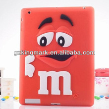 Cute and fancy animal shape case for ipad 2 3 4 with silicone material