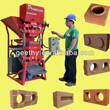 interlocking ecological solid clay production line Eco Premium 2700 low investment high profit business